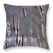 Dancing Cattails Throw Pillow