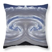 Dancing Clouds 2 Panoramic Throw Pillow