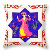Dancing Dancer Pastel Throw Pillow