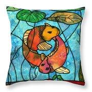 Dancing Fish Throw Pillow