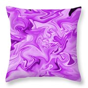 Dancing Flames-purple Throw Pillow