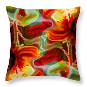 Dancing Flowers Throw Pillow by Omaste Witkowski