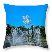 Dancing Fountain Throw Pillow