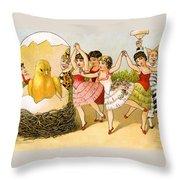 Dancing Girls Throw Pillow