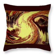 Dancing Headdress Abstract Throw Pillow
