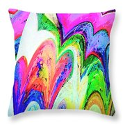 Dancing Hearts  Throw Pillow by Annie Zeno