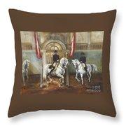 Dancing Horses Throw Pillow