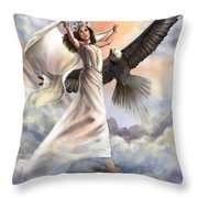 Dancing In Glory Throw Pillow by Tamer and Cindy Elsharouni