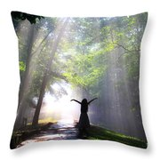 Dancing In God's Light Copyright Willadawn Photography Throw Pillow