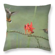 Dancing In The Flowers Throw Pillow