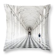 Dancing In The Galleria Grande Throw Pillow