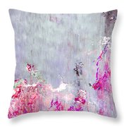 Dancing In The Rain - Abstract Art Throw Pillow