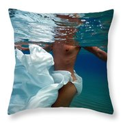 Dancing In The Sea Throw Pillow