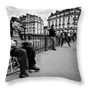 Dancing In The Streets Of Paris / Paris Throw Pillow