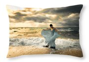 Dancing In The Surf Throw Pillow