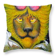 Dancing King Of The Serengeti Discotheque Throw Pillow