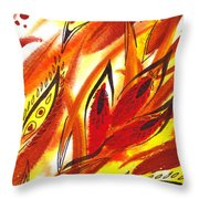 Dancing Lines Hot Abstract Throw Pillow