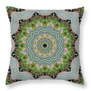 Dancing Mandevilla Blossom Kaleidoscope Throw Pillow