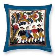 Dancing Men 4 Throw Pillow