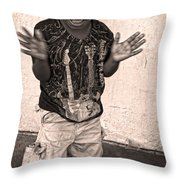 Dancing' On Decatur For Dollars Throw Pillow