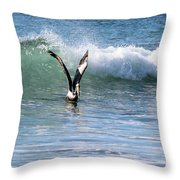 Dancing On The Waves Throw Pillow