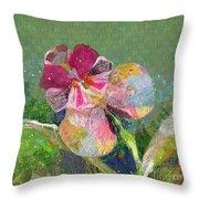 Dancing Orchid IIi Throw Pillow