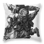 Dancing Peasants 1514 - Albrecht Durer Throw Pillow