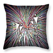 Dancing Puppets Throw Pillow