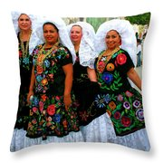 Dancing Queens Palm Springs Throw Pillow