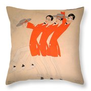 Dancing Song Throw Pillow