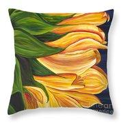 Dancing Sunflower Throw Pillow