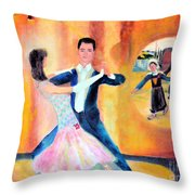 Dancing Through Time Throw Pillow