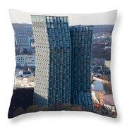 Dancing Towers Hamburg Throw Pillow