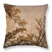Dancing Trees Throw Pillow by Carol Whaley Addassi