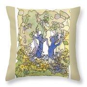 Dancing Trees Throw Pillow