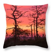 Dancing Trees Into The Fire Throw Pillow