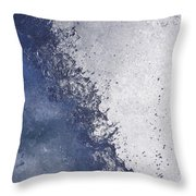 Dancing Water Drops Throw Pillow