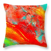 Dancing With Colors Throw Pillow