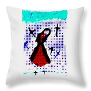 Dancing With The Birds Throw Pillow
