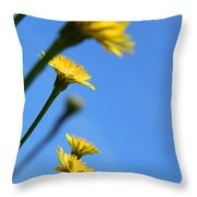 Dancing With The Flowers Throw Pillow