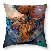 Dancing With The Moon Throw Pillow