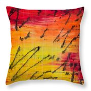 Dancing With The Sun Throw Pillow