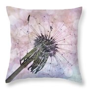 Dandelion Before Pretty Bokeh Throw Pillow