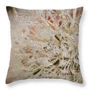 Dandelion Crystals Throw Pillow