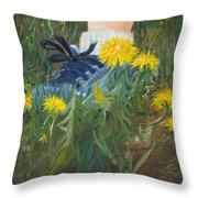 Dandelion Dance Throw Pillow