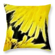 Dandelion Expressive Brushstrokes Throw Pillow
