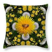 Dandelion Grove Mandala Throw Pillow