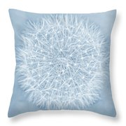 Dandelion Marco Abstract Blue Throw Pillow