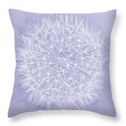 Dandelion Marco Abstract Lavender Throw Pillow