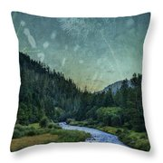 Dandelion Moon Throw Pillow